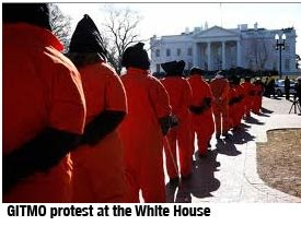 Gitmo protest at the White House