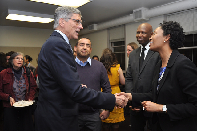 FCC Chairman Tom Wheeler at a townhall in Oakland, CA