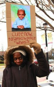 woman at black lives matter protest
