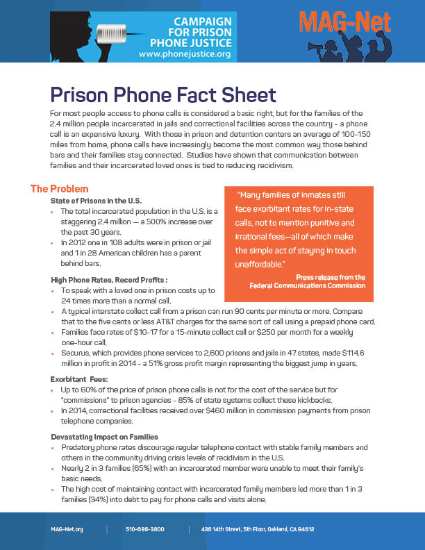 Prison Phone Fact Sheet