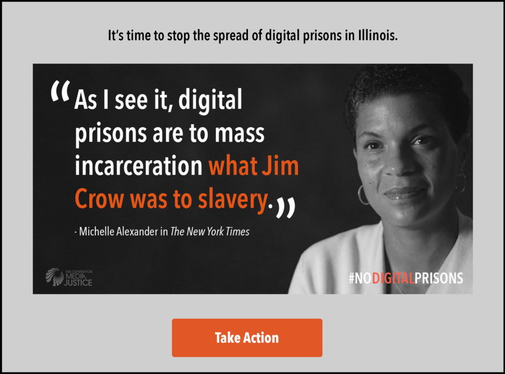 Michelle Alexander joins the call for #NoDigitalPrisons. Sign the petition.