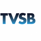 "Logo for TV Santa Barbara is the initials ""TVSB"" in blue."