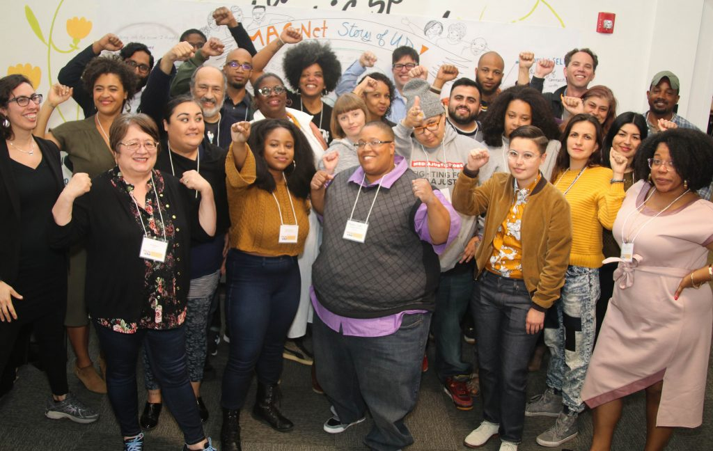 Malkia Cyril and MediaJustice Network in 2018