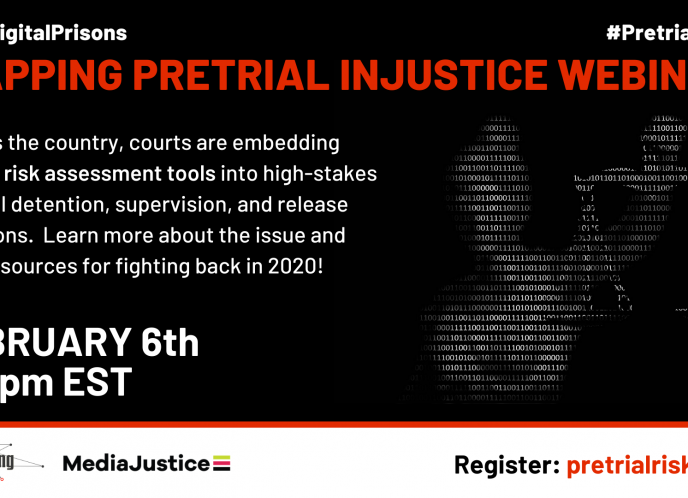 Mapping Pretrial Injustice Flyer - February 6th at 3 pm ET