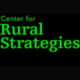 Center for Rural Strategies is spelled out in bright green text over a Black square, with Rural Strategies' font much larger and with serifs and taking up most of the image.
